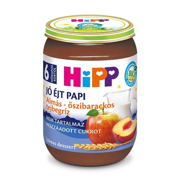 Hipp Jó éjt papi Almás-őszibarackos tejbegriz 190g  babadesszert - Brendon - 136801