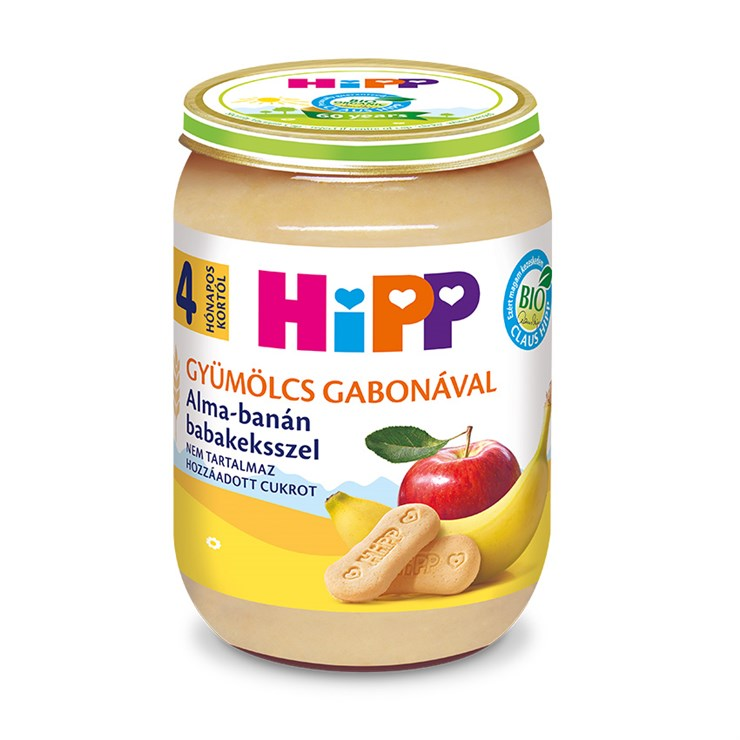 Hipp Alma-Banán babakeksszel 190g  bébiétel - Brendon - 136805