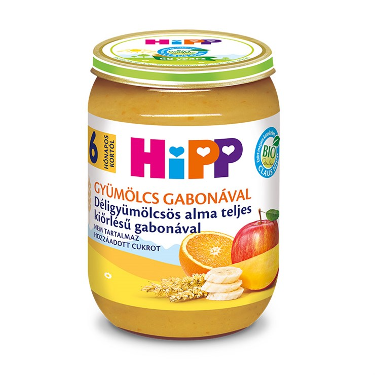 Hipp Déligyüm.-alma teljes kiőrlésű gabonával 190g  bébiétel - Brendon - 136822