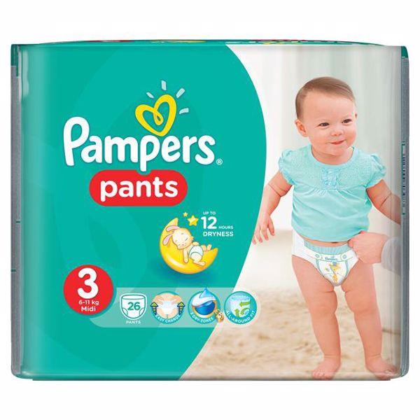 Pampers Pants Carry Pack 3 Midi 26 pcs  plienkové nohavičky - Brendon - 137844