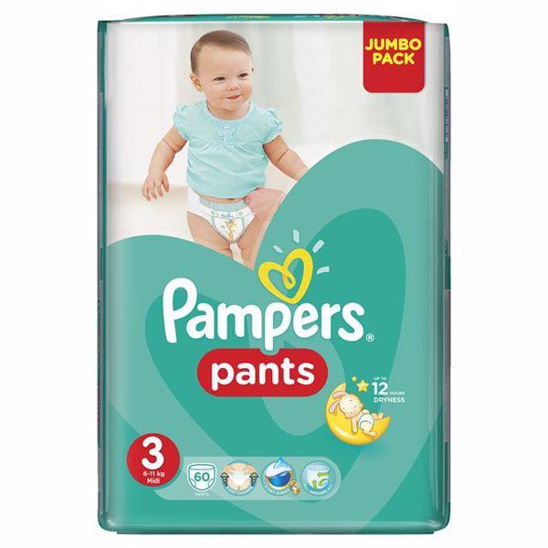 Pampers Pants Jumbo Pack 3 Maxi 60pcs  plienkové nohavičky - Brendon - 137845