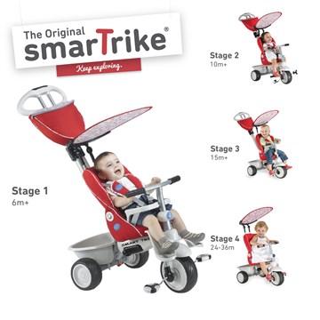 smarTrike Recliner Red tricykel - Brendon - 138247
