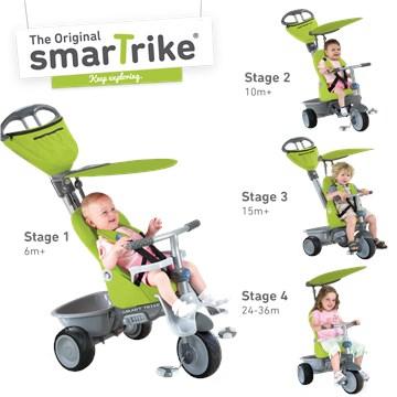 smarTrike Recliner Green tricykel - Brendon - 138255