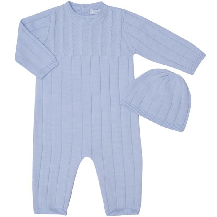 Bluesbaby PP0156 Blue hosszú ujjú kötött rugdalózó - Brendon - 139490