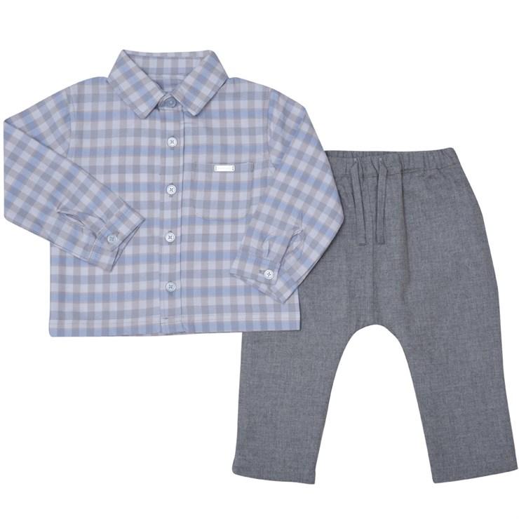 Bluesbaby PP0024/2pcs Grey Check 2 részes ünneplőruházat - Brendon - 139493