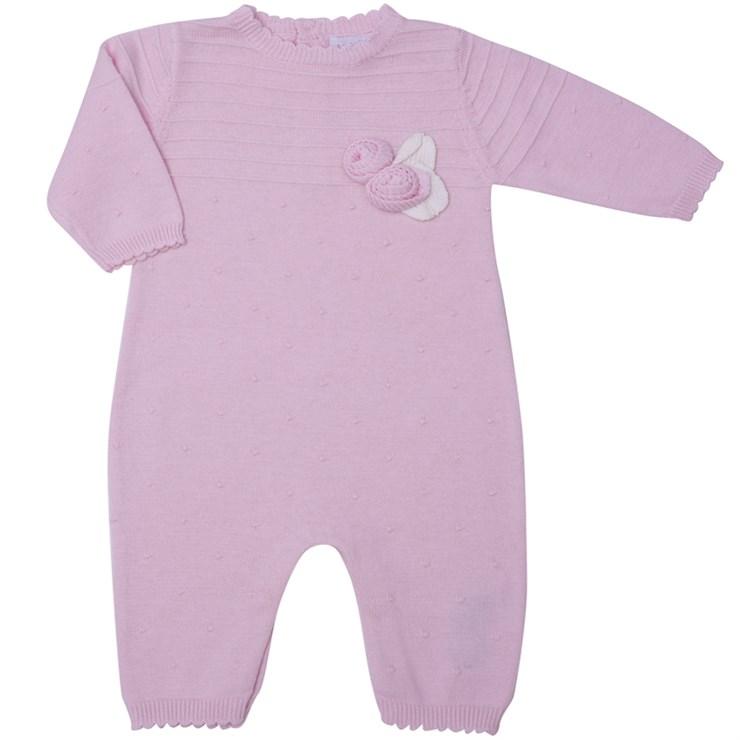 Bluesbaby PP0178 Pink hosszú ujjú kötött rugdalózó - Brendon - 139506