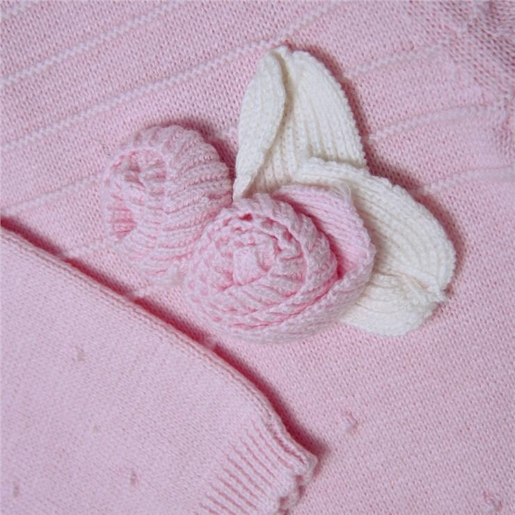Bluesbaby PP0178 Pink hosszú ujjú kötött rugdalózó - Brendon - 139507