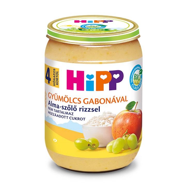 Hipp Alma-szőlő rizzsel 190g  bébiétel - Brendon - 139744