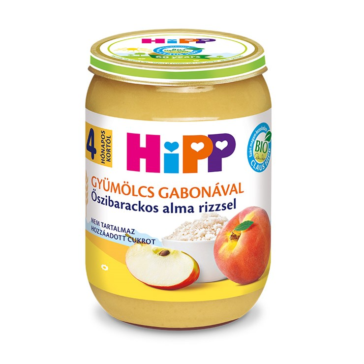 Hipp Őszibarackos alma rizzsel 190g  bébiétel - Brendon - 139745