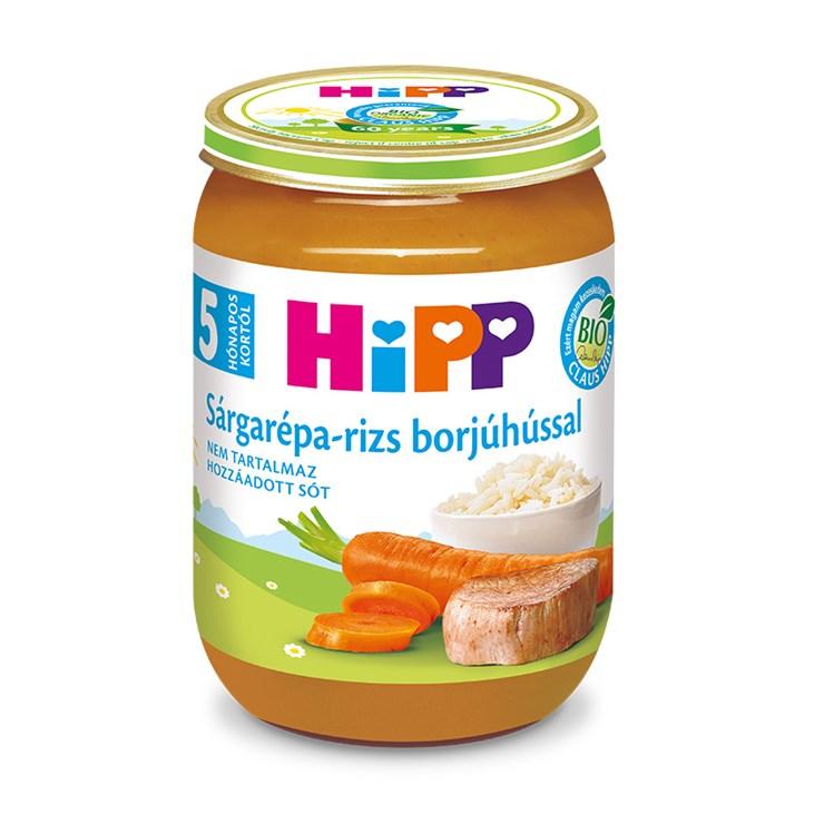 Hipp Sárgarépa-rizs borjúhússal 190g  bébiétel - Brendon - 139748