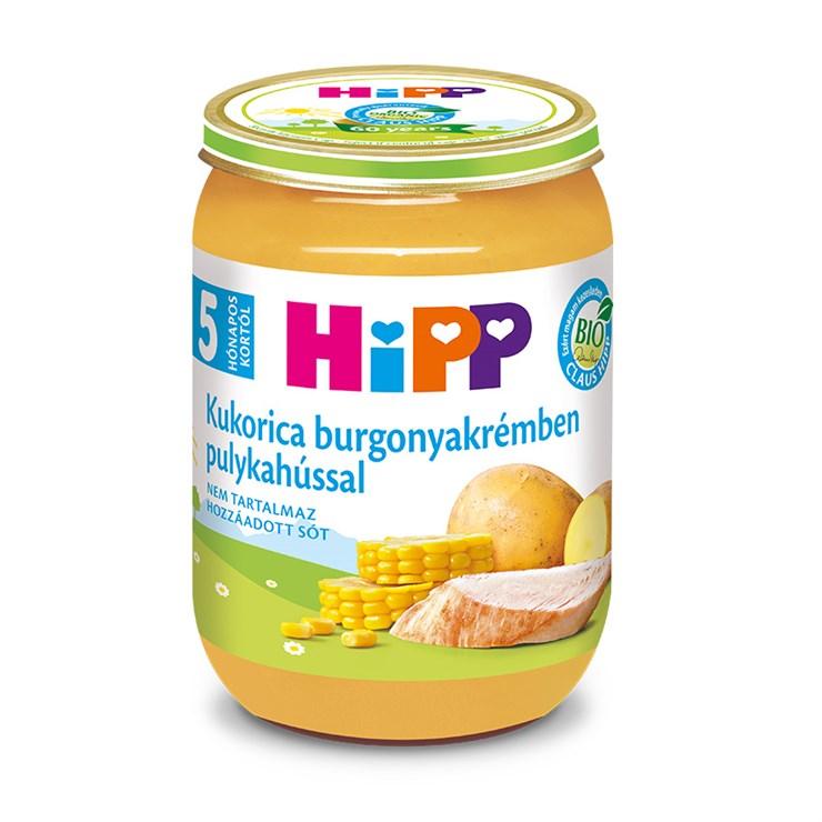 Hipp Kukorica burgonyakrémben pulykahússal 190g  bébiétel - Brendon - 139841