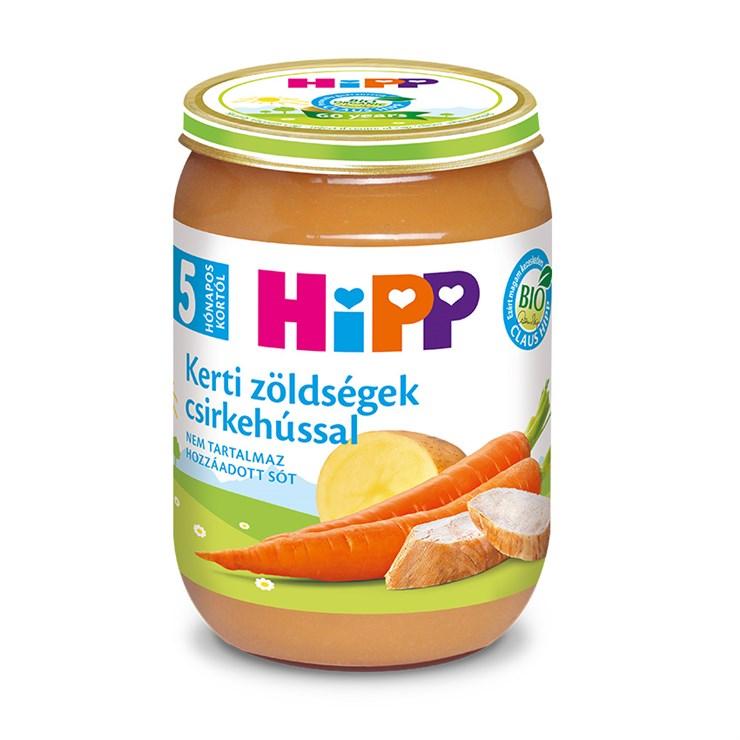 Hipp Kerti zöldségek csirkehússal 190g  bébiétel - Brendon - 139843