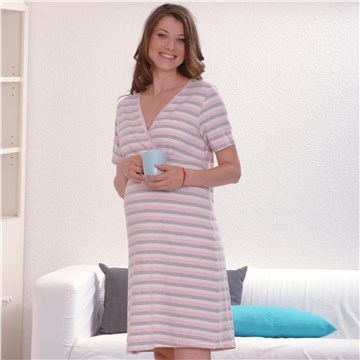 Brendon Maternity Jade Rose-Grey Str hálóing 2537881e9e