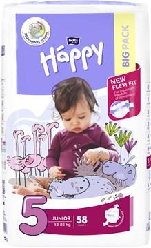 Bella Baby Happy Big Pack Junior 58 pcs  eldobható pelenka - Brendon - 145595