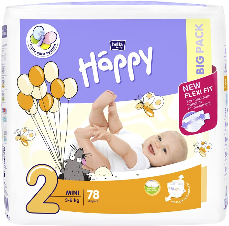 Bella Baby Happy Big Pack Mini 78 pcs New  eldobható pelenka - Brendon - 145623