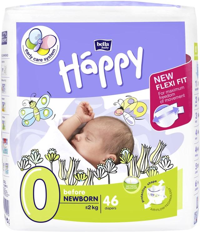 Bella Baby Happy Start Pack Before Newborn 46 pcs  eldobható pelenka - Brendon - 145627