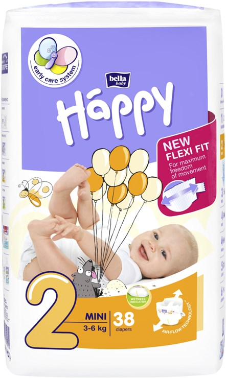 Bella Baby Happy Start Pack Jumbo Mini 38 pcs  eldobható pelenka - Brendon - 145628