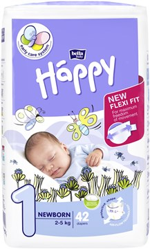 Bella Baby Happy Start Pack Newborn 42 pcs  eldobható pelenka - Brendon - 145629