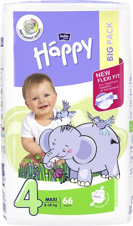 Bella Baby Happy Big Pack Maxi 66 pcs New  jednorázové plienky - Brendon - 146596