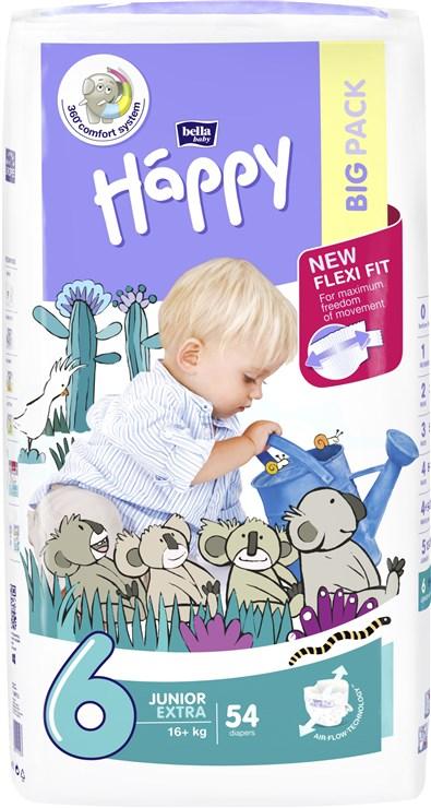 Bella Baby Happy Big Pack Junior Extra 54 pcs  jednorázové plienky - Brendon - 146597