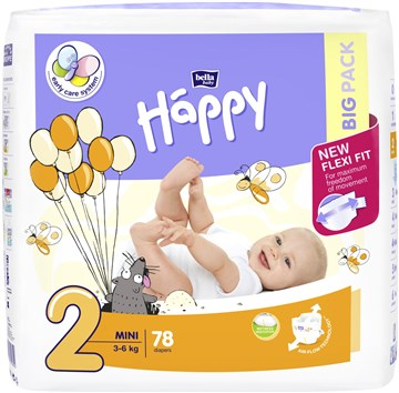 Bella Baby Happy Big Pack Mini 78 pcs New  jednorázové plienky - Brendon - 146623