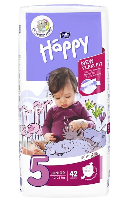 Bella Baby Happy Jumbo Junior 42 pcs New  jednorázové plienky - Brendon - 146624