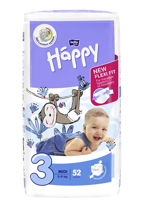 Bella Baby Happy Jumbo midi 52 pcs New  jednorázové plienky - Brendon - 146626