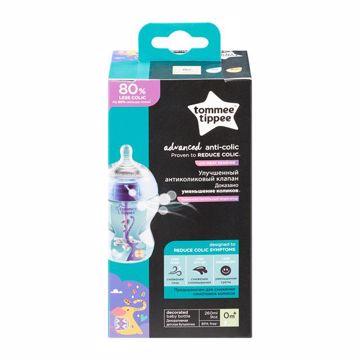 Tommee Tippee Advanced Anti-Colic 260ml Blue cumlíková fľaša plastová - Brendon - 150173