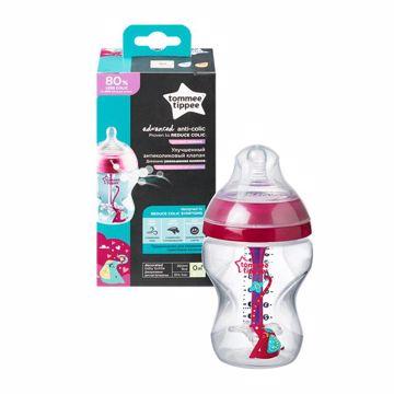 Tommee Tippee Advanced Anti-Colic 260ml Pink cumlíková fľaša plastová - Brendon - 150176