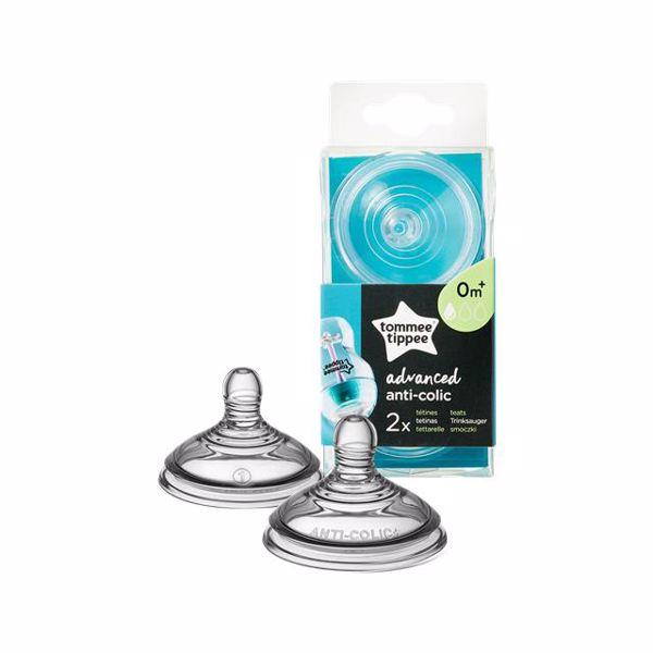 Tommee Tippee Advanced Anti-Colic Slow Flow Teats 2pcs  cumlík na fľašu -silikon - Brendon - 150185