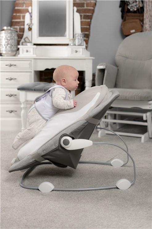 babocush Comfort Cushion Grey/White príslušenstvo ku kreslu na odpočívanie - Brendon - 151854