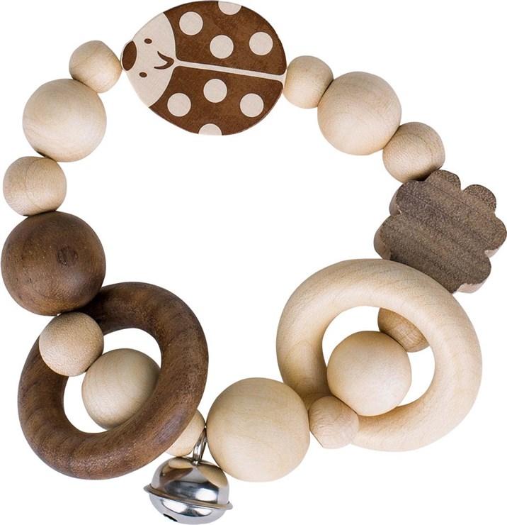 Heimess Touch ring elastic ladybird Nature csörgő - Brendon - 152104