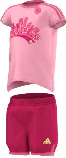 adidas S21458 Light Pink-Pink 2 részes nadrágos garnitúra - Brendon - 156401