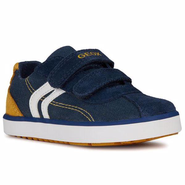 a1be767ef Geox B82A7G-01022 C4229 Navy Yellow 24-25 plátená obuv - Brendon - 160715  ...