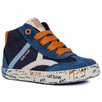 524646175 Geox B92A7E-01022 C4218 Navy 22-23 plátená obuv