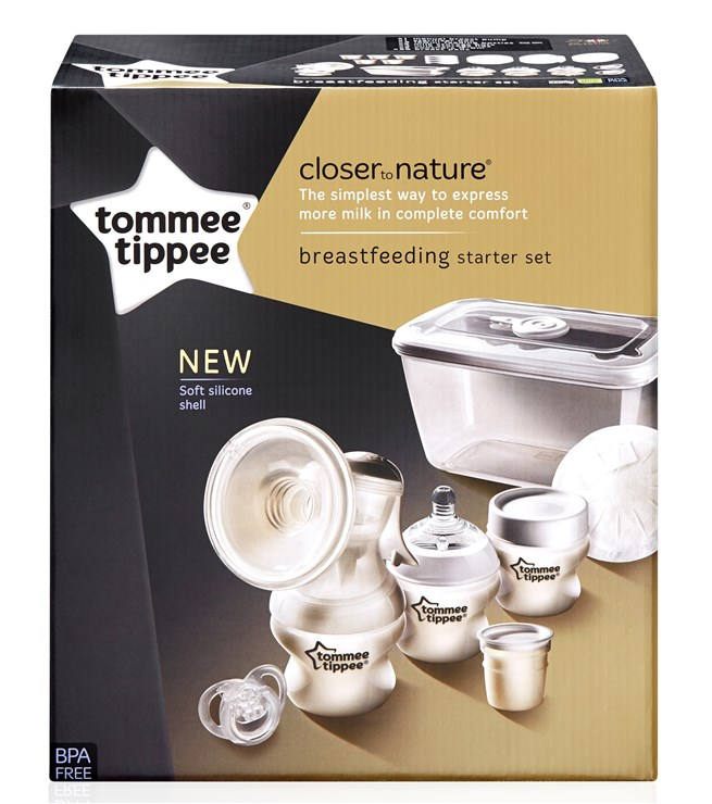 Tommee Tippee CTN Starter Kit new  ručná odsávačka mlieka - Brendon - 163812