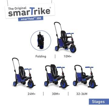 smarTrike SmartFold 300 Blue tricykel - Brendon - 165184