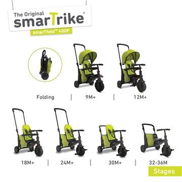 smarTrike SmarTfold 400 Green tricykel - Brendon - 165194