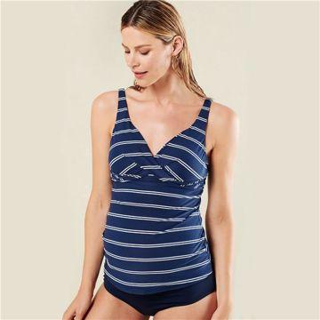 Noppies Maternity 90164-90165 P134 P093 Dress Blue Str fürdőruha e869b67e8f