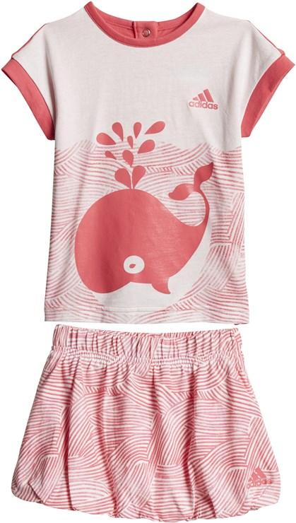 adidas CF7422 White-Pink 2 dielna sukňová súprava - Brendon - 168025