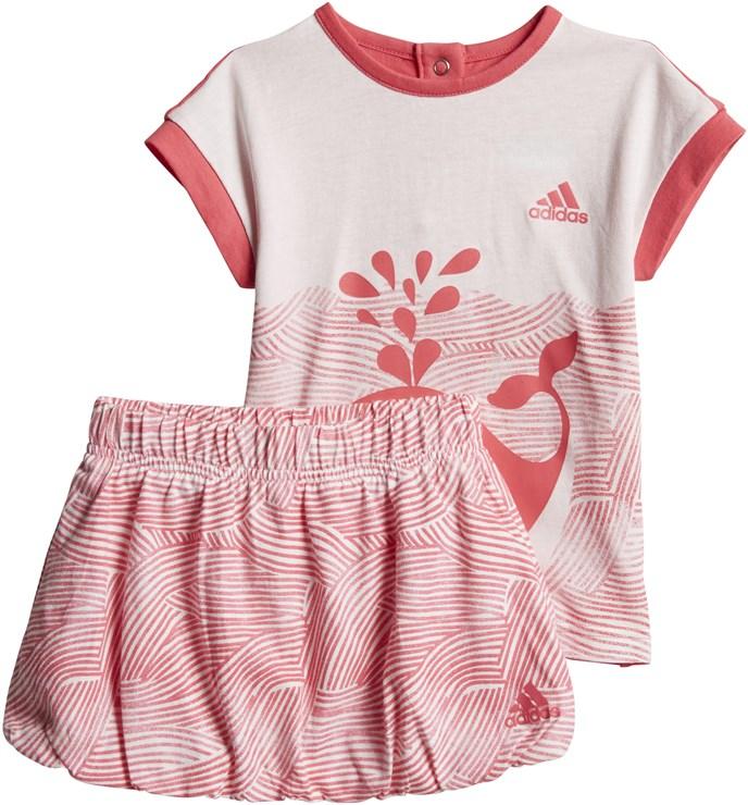 adidas CF7422 White-Pink 2 dielna sukňová súprava - Brendon - 168026