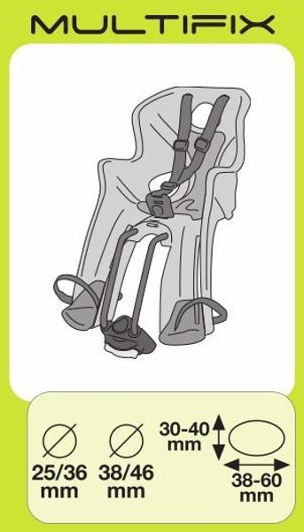 Bellelli Little Duck Standard Multifix Hi-Viz  sedadlo na bicykel zadné - Brendon - 16390502