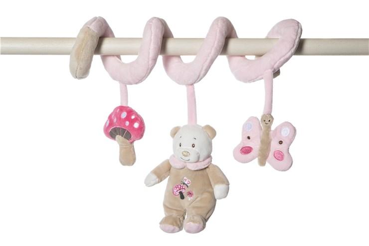 Artesavi Bear 32cm Pink pripevniteľná hračka - Brendon - 21202302