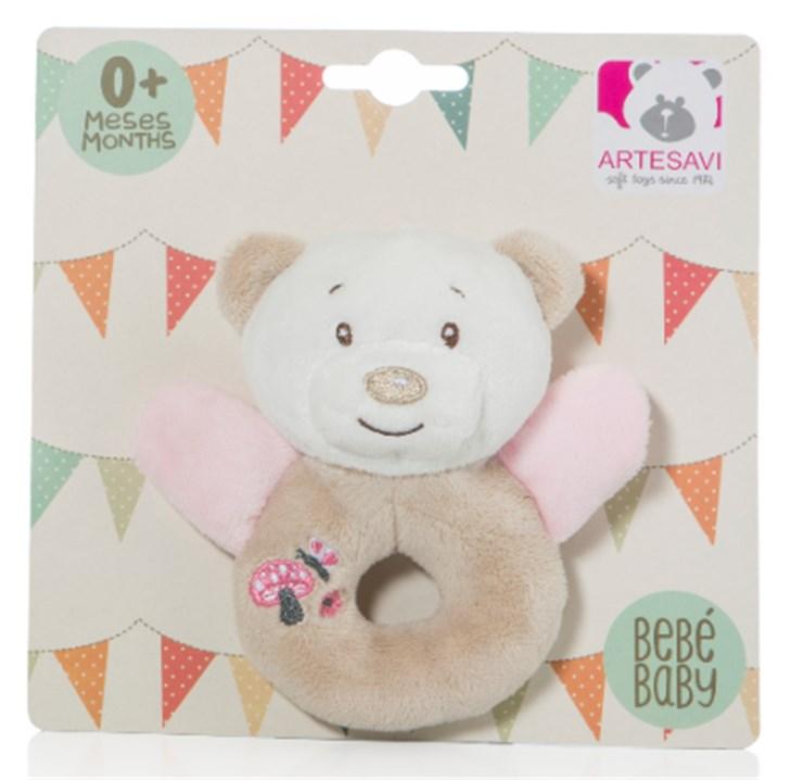 Artesavi Bear 12cm Pink csörgő - Brendon - 21218401