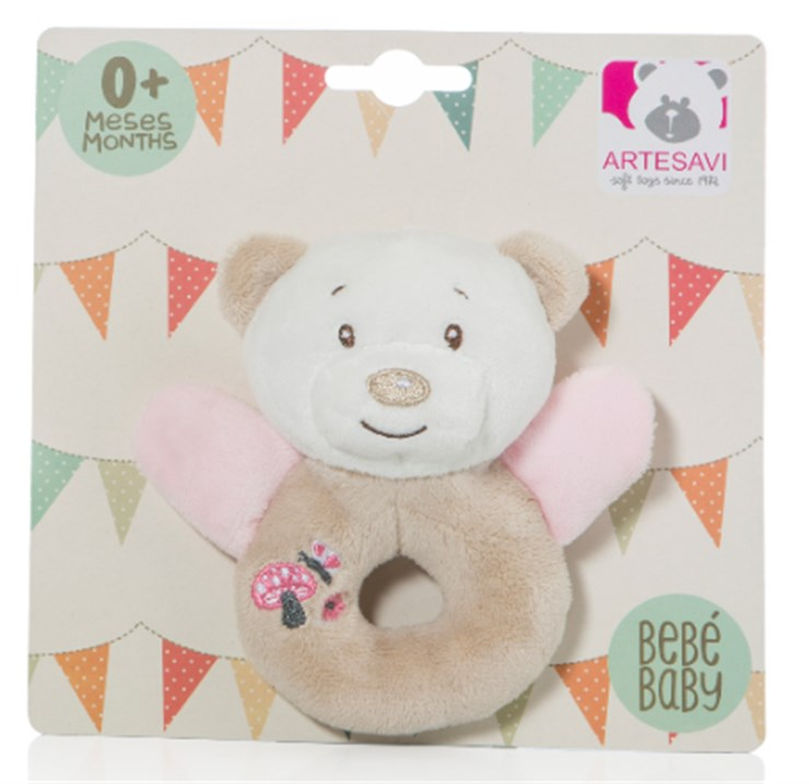 Artesavi Bear 12cm Pink hrkálka - Brendon - 21218402