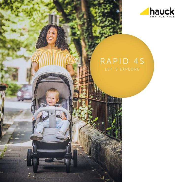 Hauck Rapid 4S Lunar/Stone detský kočík - Brendon - 21785502