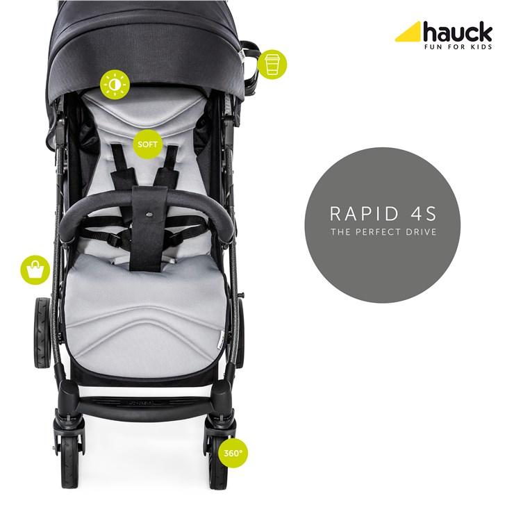 Hauck Rapid 4S Caviar/Stone detský kočík - Brendon - 21787902