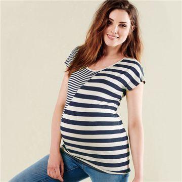 Noppies Maternity 90313 P093 Dress Blue Str póló d64215af79