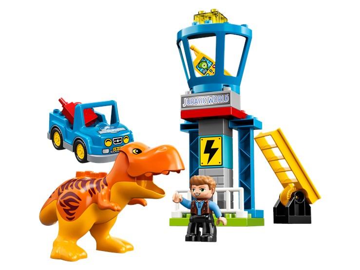 LEGO DUPLO Jurassic World T. rex Tower 10880  építőjáték - Brendon - 22144301