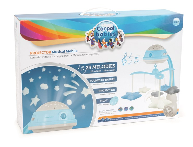 Canpol babies Musical Mobile with Projector  blue zenélő körforgó - Brendon - 22281901